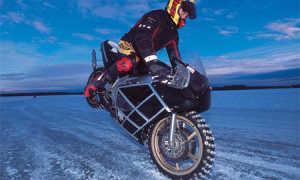Вождение мотоцикла зимой