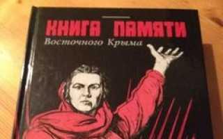 «Книга памяти восточного Крыма «Просили помнить» уничтожена