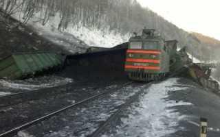 В Иркутской области произошло крушение поезда
