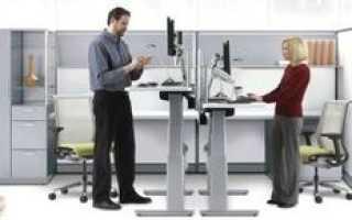 В современных офисах становится модным работать стоя