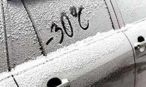 Мороз на Украине всё крепчает