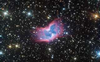 В космосе сфотографировали яркую «бабочку»
