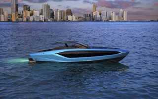 Показана скоростная яхта в виде суперкара Lamborghini за 235 миллионов рублей