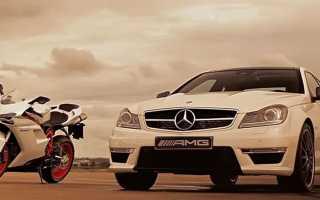 Mercedes-Benz C63 AMG Coupe смог бы соперничать с Ducati?