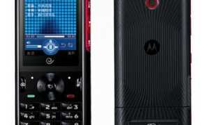 Музыкальный моноблок — Motorola W562