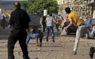 Из-за беспорядков в Египте погибло 3-е людей и 60 травмировано