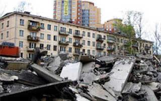 Пятиэтажки в Москве не успеют снести к 2014 году