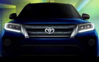 Toyota опубликовала изображение кроссовера Urban Cruiser