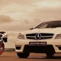 Mercedes C63 AMG Coupe и Ducati 848 EVO