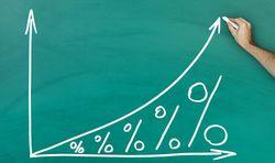 График роста процентов